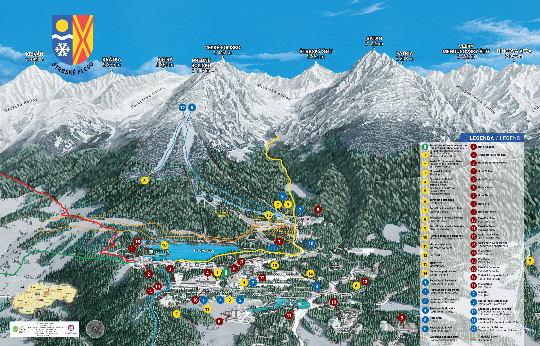 Mapy Strbske Pleso